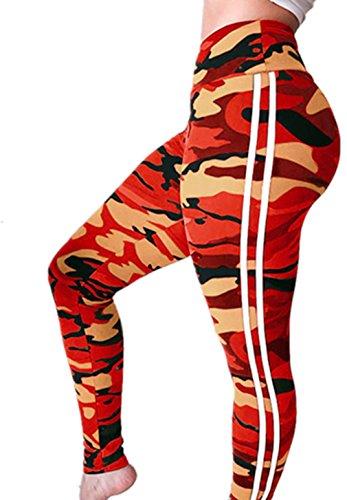 49c082666e966 LUCA Women's Fashion Workout Yoga Pants Camouflage Print Leggings Fitness  Sports Gym Running Yoga Athletic Sweatpants