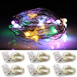 ER CHEN(TM) 6 Set of Micro 20 LEDs Super Bright Rope Lights Battery Operated ...