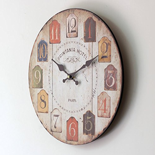 Amazon.com: RUGAI-UE Arabia color digital electronic mute frame clock, 35×35cm: Home & Kitchen