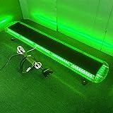 """VSLED Black Aluminium Case 12V -24V 46.5""""102 LED Emergency Warning LightBar Recovery Wrecker Flashing LightBar Beacon Strobe LightBar (Green)"""