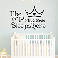 MAIDIEN Princess Sleeps Here Wall Home Decor Bedroom Wall Stickers For Girls