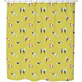 Hip Dogs Shower Curtain: Large Waterproof Luxurious Bathroom Design Woven Fabric