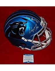 Christian Mccaffrey Carolina Panthers Signed Autograph Full Size Blaze Helmet - Beckett Certified