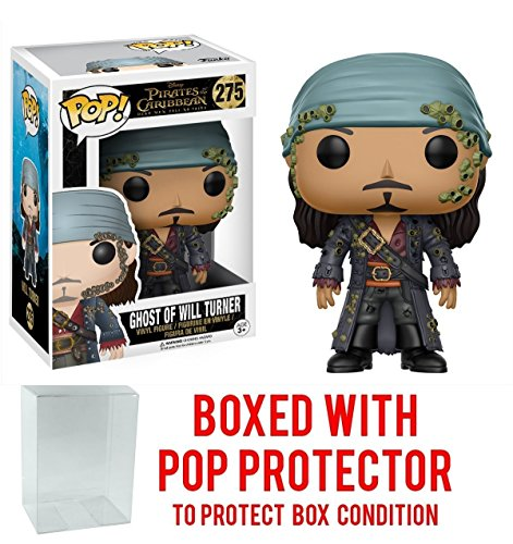 Funko Pop! Disney: Pirates of the Caribbean Dead Men Tell No Tales - Ghost of Will Turner Vinyl Figure (Bundled with Pop BOX PROTECTOR CASE)