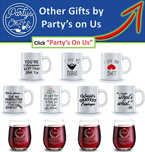 Best Morning Motivation Funny Mugs Gift, You're Awesome Keep That St Up Coffee Mug - Congratulations, Goodbye or Going Away Gift for Coworker   Gifts For Mom, Dad, Boss, Employees & Friends by Party's On Us (Image #7)