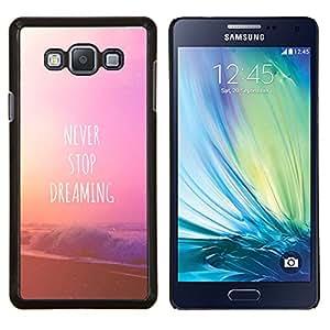 EJOOY---Cubierta de la caja de protección para la piel dura ** Samsung Galaxy A7 A7000 ** --Nunca dejes de soñar texto playa pin