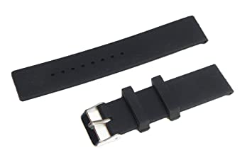 24mm deportes de silicona banda de reloj de la correa + 2 pines + Herramienta Para Sony Smartwatch 2 SW2 (Negro)