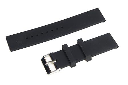 @ccessory 24mm Deporte de Silicona Correa de Reloj Pulsera de Repuesto + Herramienta para Sony Smartwatch 2 SW2 (Negro)