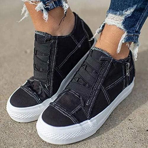 UMOOIN Chaussures Confortables KOT 2020 Talon Bas pour Femmes All Season Chaussures Sneakers Casual Chaussures Femme Chaussures Chaussures en Toile Simple pour Femmes,Noir,40