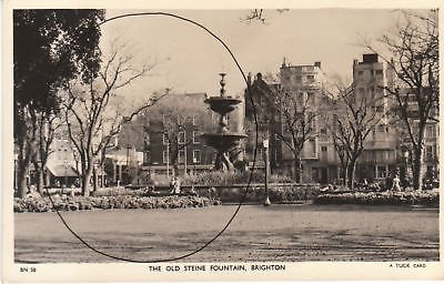 G2985 England, Brighton Old Steine Fountain Photo Postcard