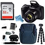 Canon PowerShot SX420 IS 20 MP Digital Camera w/ Sony 32GB SD Card & DigitalAndMore PRO Accessory Bundle