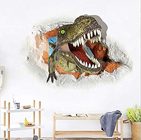 Tyrannosaurus Dinosaur Autocollant Mural Peinture 3D Wall Art Salon Décoration