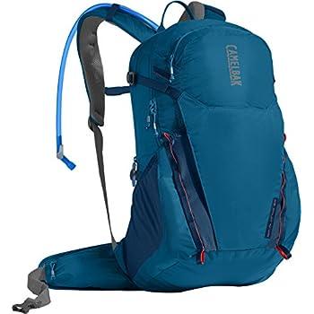 CamelBak Rim Runner 22 Crux Reservoir Hydration Pack, Grecian Blue/Pumpkin, 2.5 L/85 oz