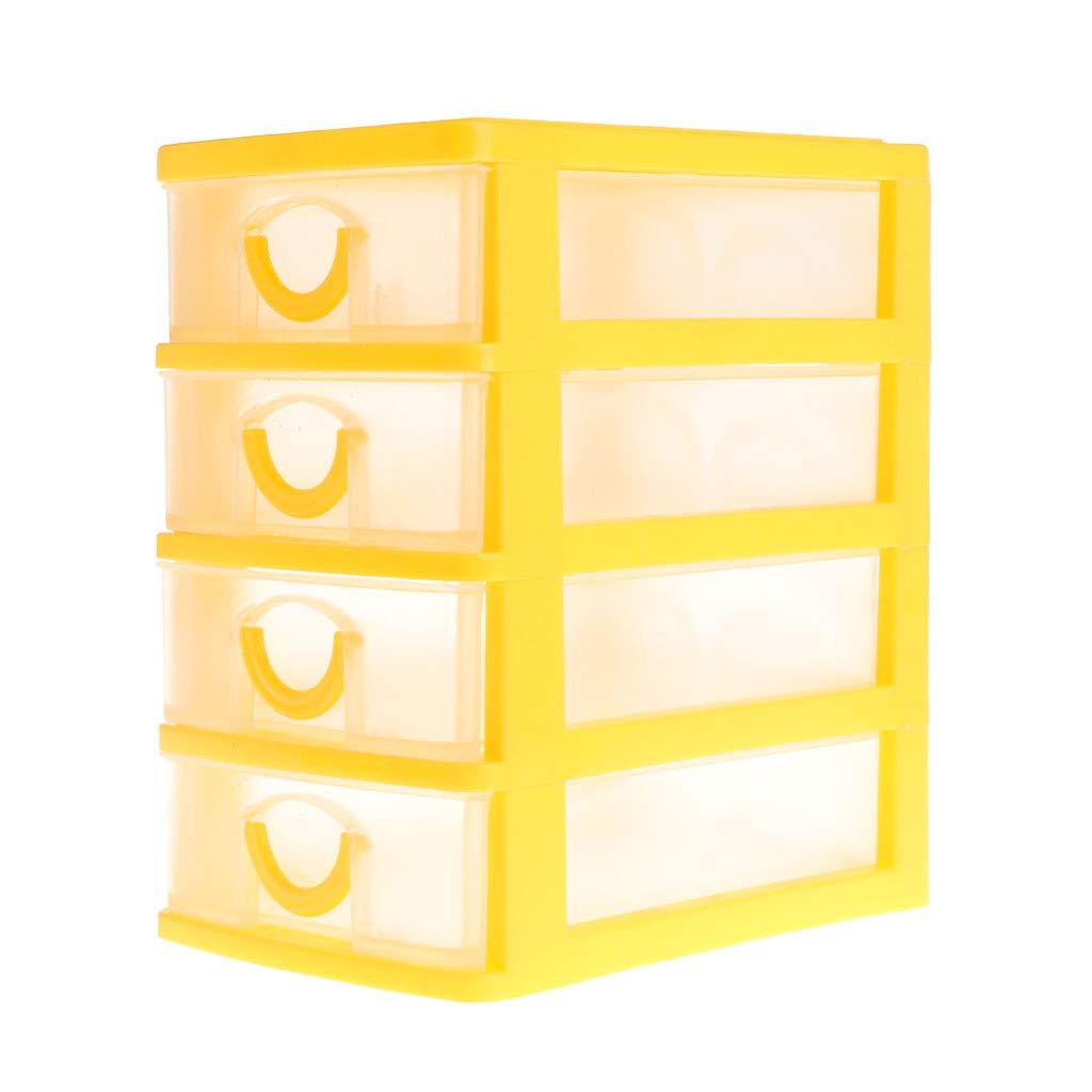 BL4 Misright 2//3//4//5-Tier Mini Desktop Organizer Drawer Type Storage Box Jewelry Headdress Drawer Desk