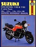 Suzuki GSX / GS1000, 1100 & 1150: 1979 TO 1988 (Owners Workshop Manual)