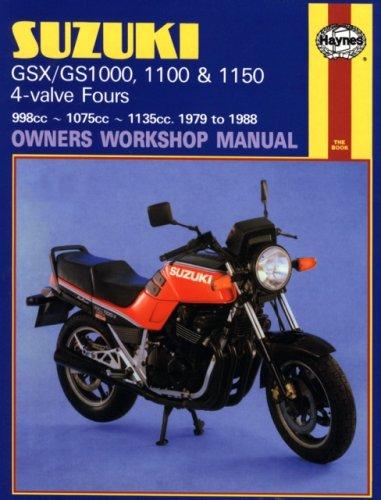 Suzuki GSX/GS1000, 1100 & 1150 4-valve Fours Owners Workshop Manual, No. M737: 1979-1988