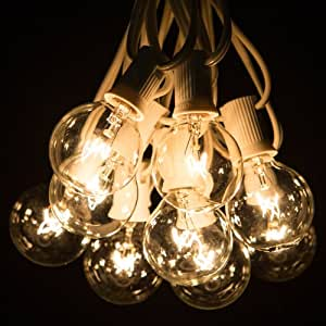 Amazon 50 Foot G40 Globe Patio String Lights with