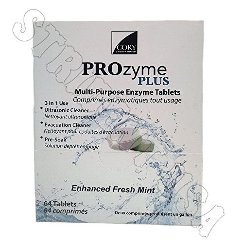 Multi Purpose Enzyme Tablet Ultrasonic & Evacuation Cleaner 64 tablets Prozyme by PROzyme Plus (Image #1)