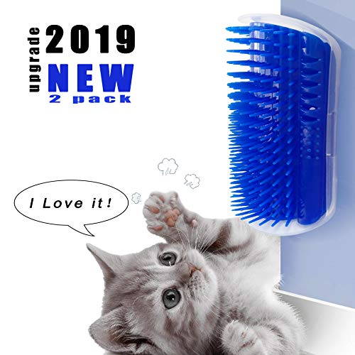 prowithlin Cat Self Groomer, 2 Pack Cat Grooming Brush, Cat Face Scratcher, Wall Corner Groomers Soft Grooming Brush Cat…