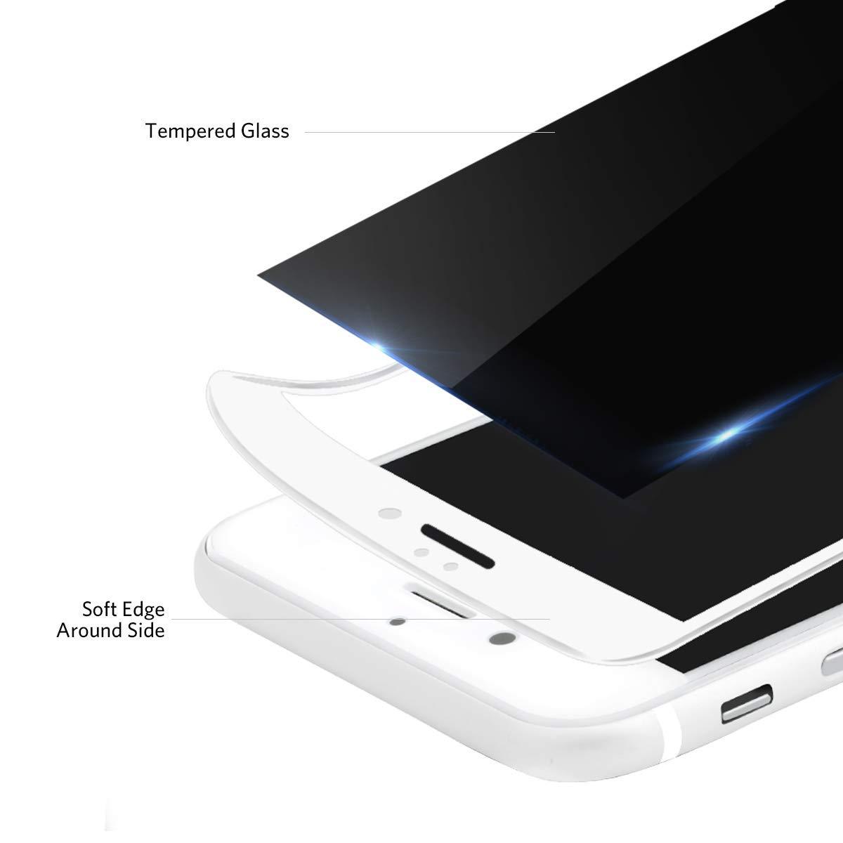 Benks Cristal Templado iPhone 8 Plus/7 Plus Anti Espía, Privacy 3D Cobertura Total Copertura Vidrio Templado Protector de Pantalla para Apple iPhone 7 ...