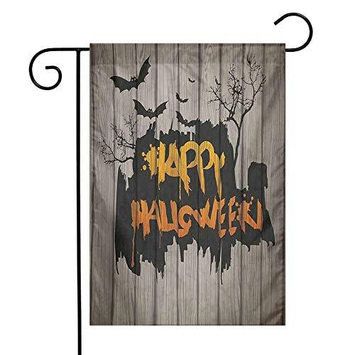 Mannwarehouse Halloween Garden Flag Happy Graffiti Style Lettering