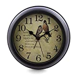 Lingxuinfo 6 inch European Style Silent Desk Alarm Clock Desk Clock for Living Room Decoration Review