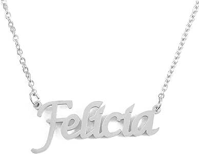 Kigu Felicia - Collar con Nombre Personalizado, Cadena