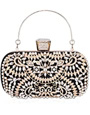 FIVE FLOWER Crystal Clutch for Women Rhinestone Evening Bag