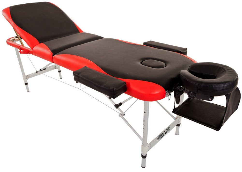 Merax WF015763JAA Aluminium 3 Section Portable Folding Massage Table Facial SPA Tattoo Bed by Merax (Image #7)