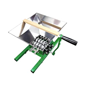 EJWOX 7Litres Fruit and Apple Crusher, Fruit Scratter Pulper for Cider Wine (Stainless Steel)