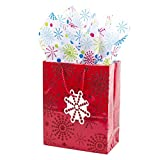 Hallmark Medium Gift Bag with Tissue Paper (Red Starburst)