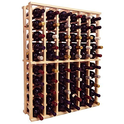 Wine Cellar Innovations Rustic Pine Individual Half Height Wine Rack for 66 Wine Bottles, 6 Column, Unstained by Wine Cellar Innovation