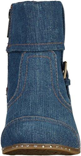 Mujer Botines De jeansblau Blau Lona 1279 Bajo Caño 503 Mustang Eq60S4OW