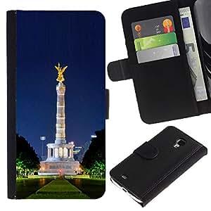 Planetar® Modelo colorido cuero carpeta tirón caso cubierta piel Holster Funda protección Para Samsung Galaxy S4 Mini i9190 / i9195 (Not For S4) ( Architecture )