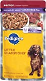 Pedigree Little Champions Healthy Maturity Morsels in Sauce with Lamb and Rice Food for Senior Dogs, 5.3-Ounce Pouches (Pack of 24), My Pet Supplies