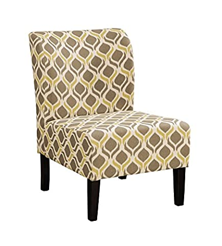 Ashley Furniture Signature Design - Honnally Contemporary Accent Chair - Gunmetal (Yellow Room Chairs)