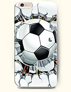 OOFIT iPhone 6 Case ( 4.7 Inches ) - Soccer Breaking through the Wall