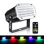 Strobe Light with Remote, JLPOW Sound Activated Mini Strobe Lights,Super Bright 48 RGB LED, Remote Control Flash Stage Lighting, Best for DJ Party Show Club Disco Karaoke
