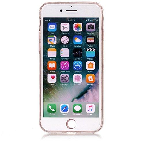 iPhone 7 / iPhone 8 Hülle Marmor Silikon, Lomogo Schutzhülle Stoßfest Kratzfest Handyhülle Case mit Marmormuster für Apple iPhone7 / iPhone8 (4,7 Zoll) - YIHU23448 #3 #1