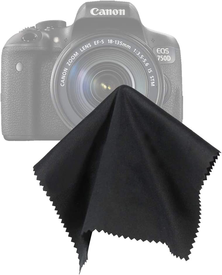 16 x 16 Black SuperFiber Lens Cleaning Cloth 20 pcs LS Photography LGG188