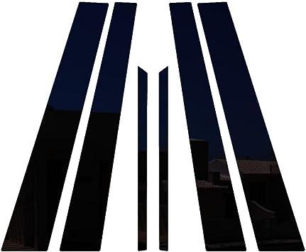 2006-2011 Honda Civic 4 Door Sedan PIL-028-GB Ferreus Industries Piano Black Pillar Post Trim Cover fits