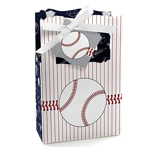 Batter Up - Baseball - Baby Shower or Birthday Party Favor Boxes - Set of 12 (Baseball Themed Baby Shower)