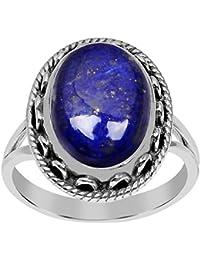 Amazoncom Gemstones Lapis Lazuli Engagement Rings Wedding