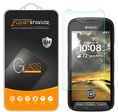[3-Pack] Supershieldz for Kyocera DuraForce PRO Tempered Glass Screen Protector, Anti-Scratch, Anti-Fingerprint, Bubble Free, Lifetime Replacement Warranty