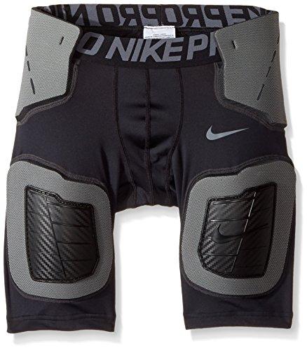 Nike Pro Hyperstrong Hardplate Taillierte Jungen Fußballshorts Schwarz (6569) / Grau / Schwarz
