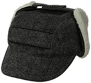 Outdoor Research Women's Trophy Trapper Hat, Charcoal Herringbone, Small