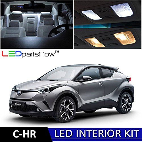 [LEDpartsNow 2018 Toyota C-HR CHR LED Interior Lights Accessories Replacement Package Kit (10 Pieces), WHITE] (Led Chr)