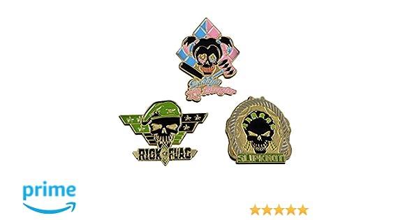 Suicide Squad 5-PACK Pewter Lapel Pins