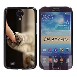 Be Good Phone Accessory // Dura Cáscara cubierta Protectora Caso Carcasa Funda de Protección para Samsung Galaxy Mega 6.3 I9200 SGH-i527 // Kitten Paws Cute Shorthair Claws Cat