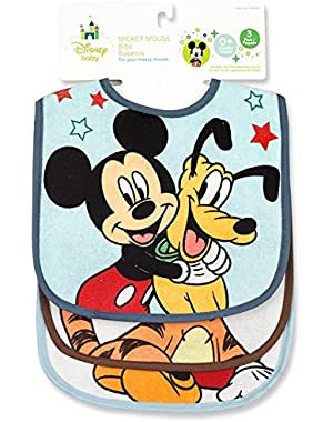 Mickey Mouse Terrycloth With Vinyl Deluxe Baby Bib